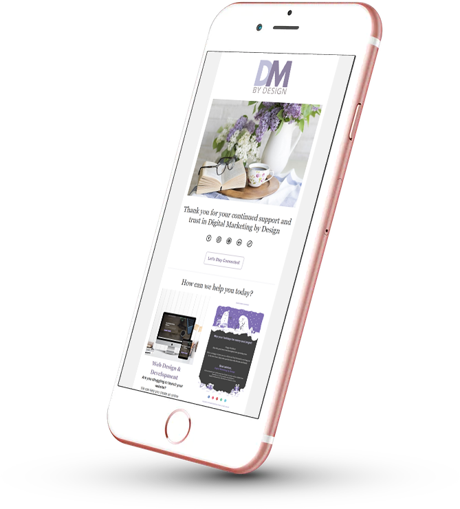Digital Marketing by Design responsive email